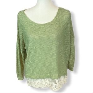 3/ $20 🍁Love By Design lace trimmed sweater